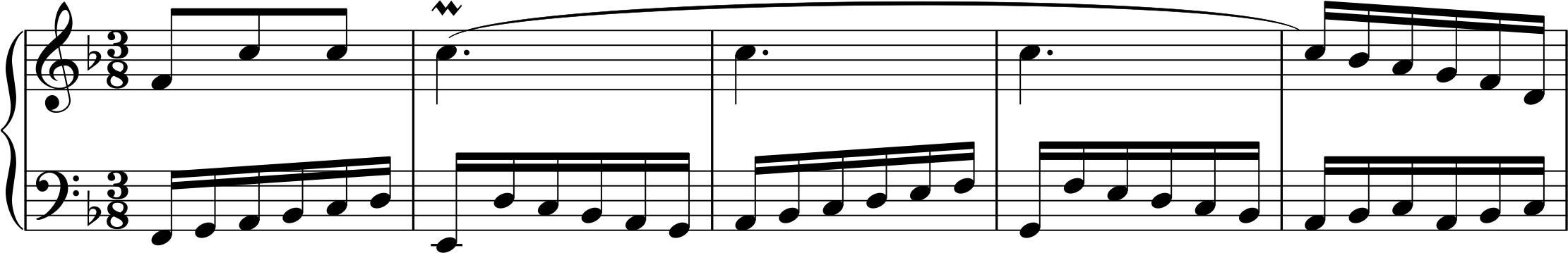 Ex. 1, Bach invention in d minor